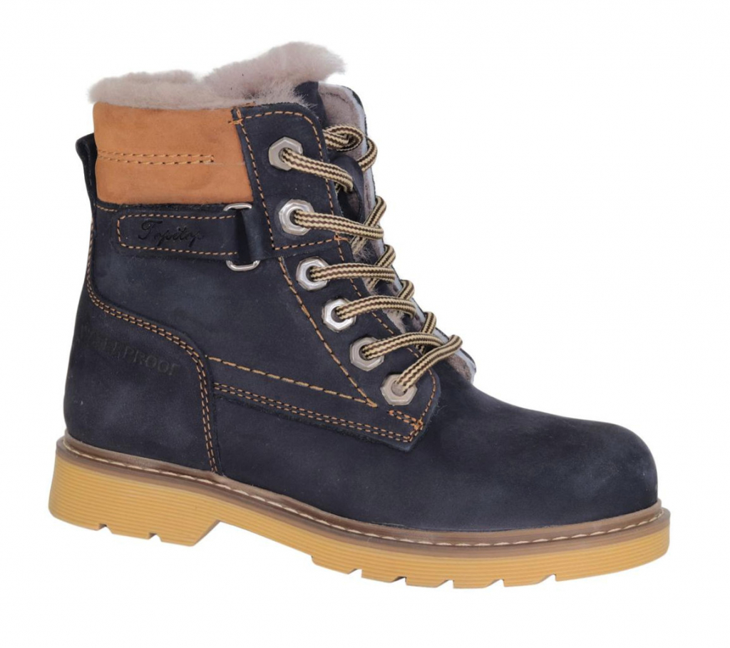d1b2495bcb1342 Ботинки зимние TOPITOP 1226 синие - Интернет магазин