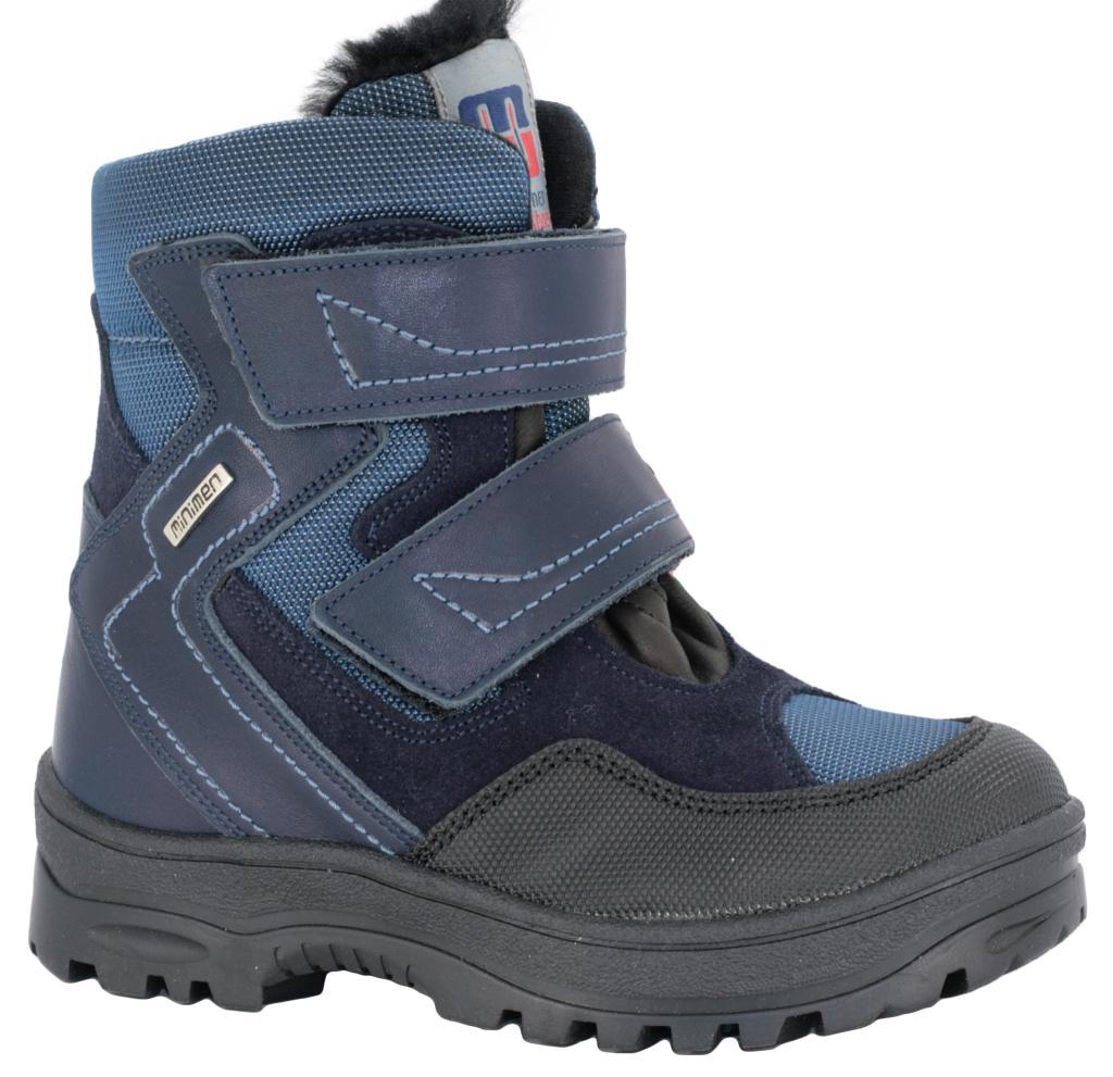 103292fbb Ботинки зимние Minimen 4028 синие - Интернет магазин